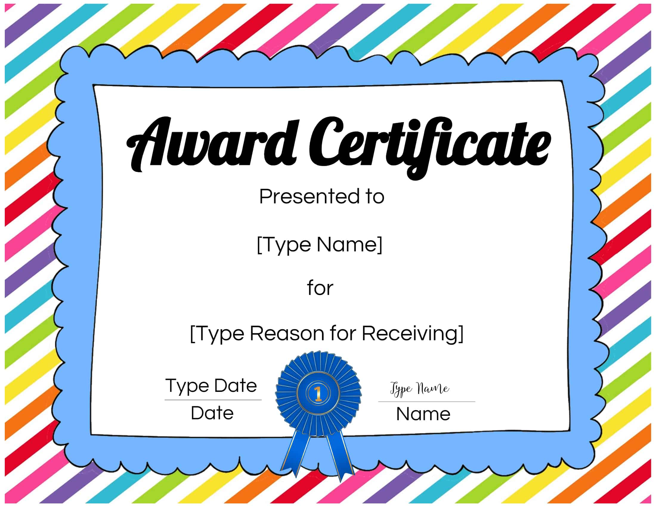 It's just an image of Ridiculous Free Printable Certificate