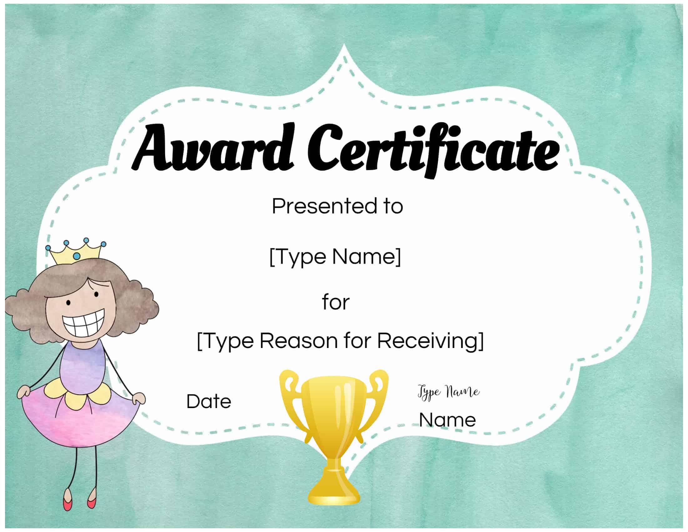 certificate certificates open maker award custom customize