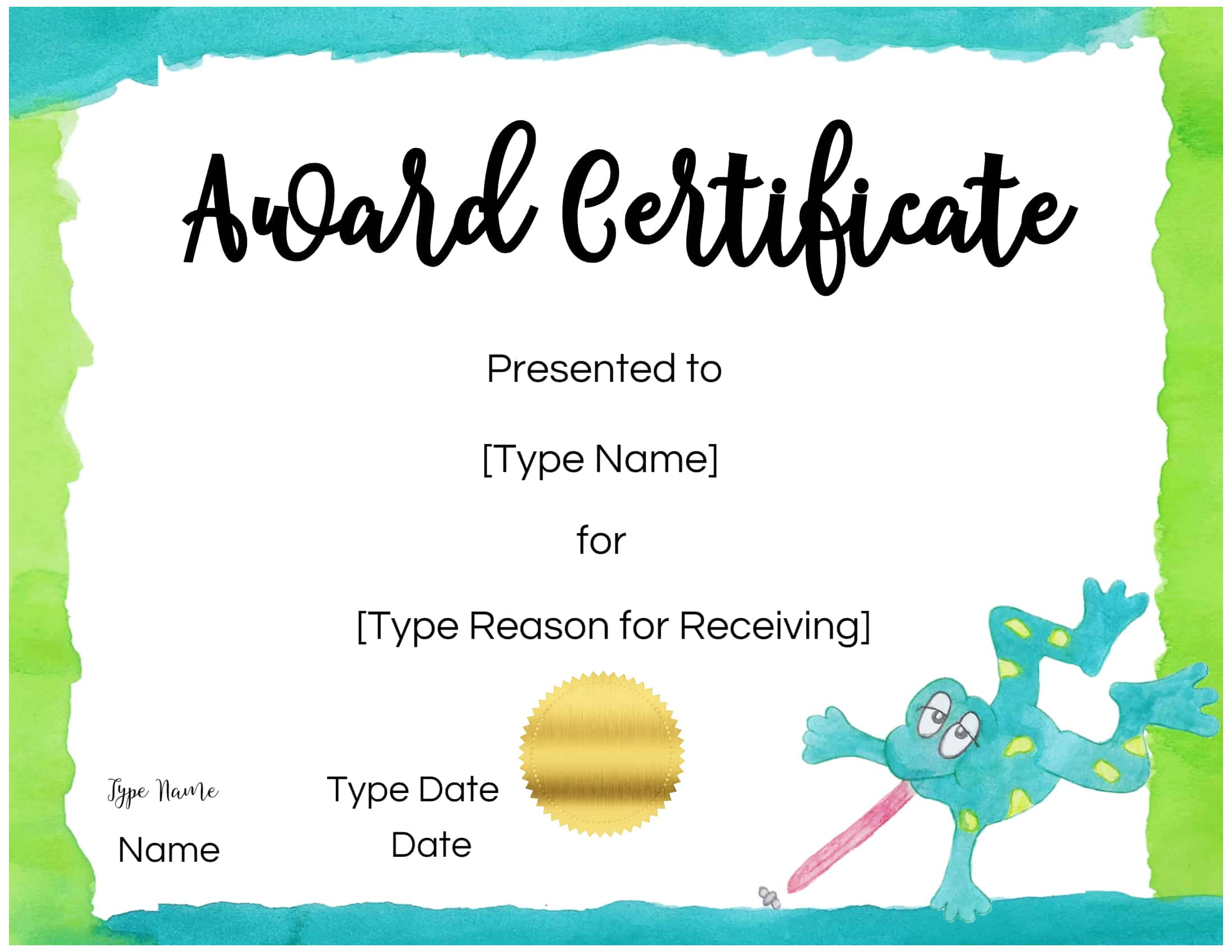 Free Custom Certificates for Kids | Customize Online ...