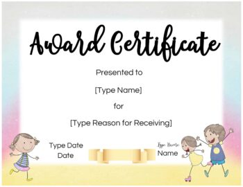 Certificate for children