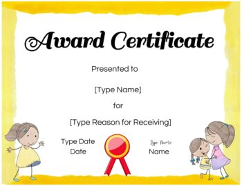 Certificate maker for kids