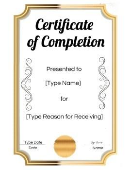 completion award