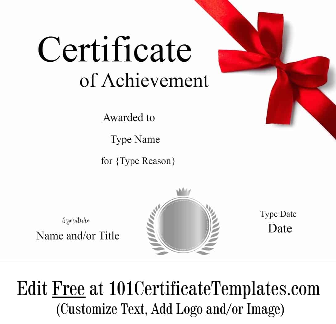Free Printable Certificate of Achievement | Customize Online