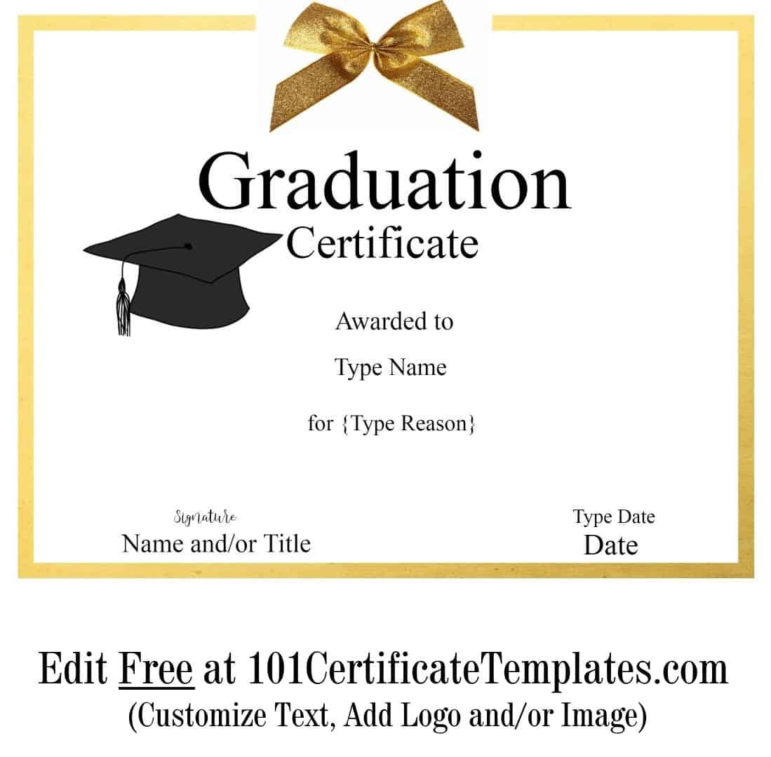 Ridiculous image regarding free printable graduation certificates