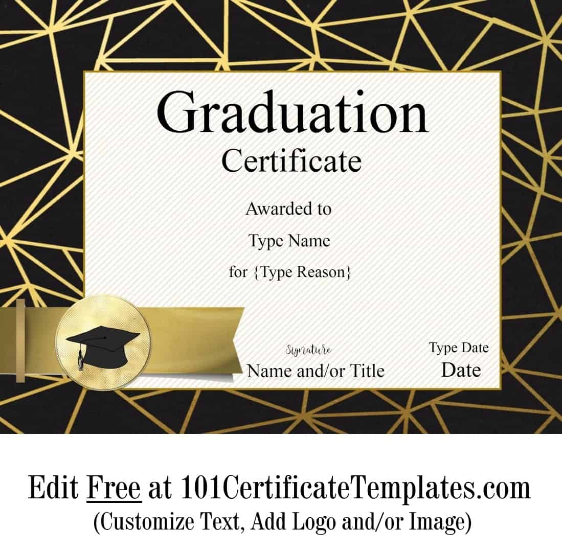 Free Graduation Certificate Template | Customize Online ...