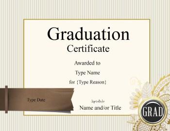 Graduate certificates