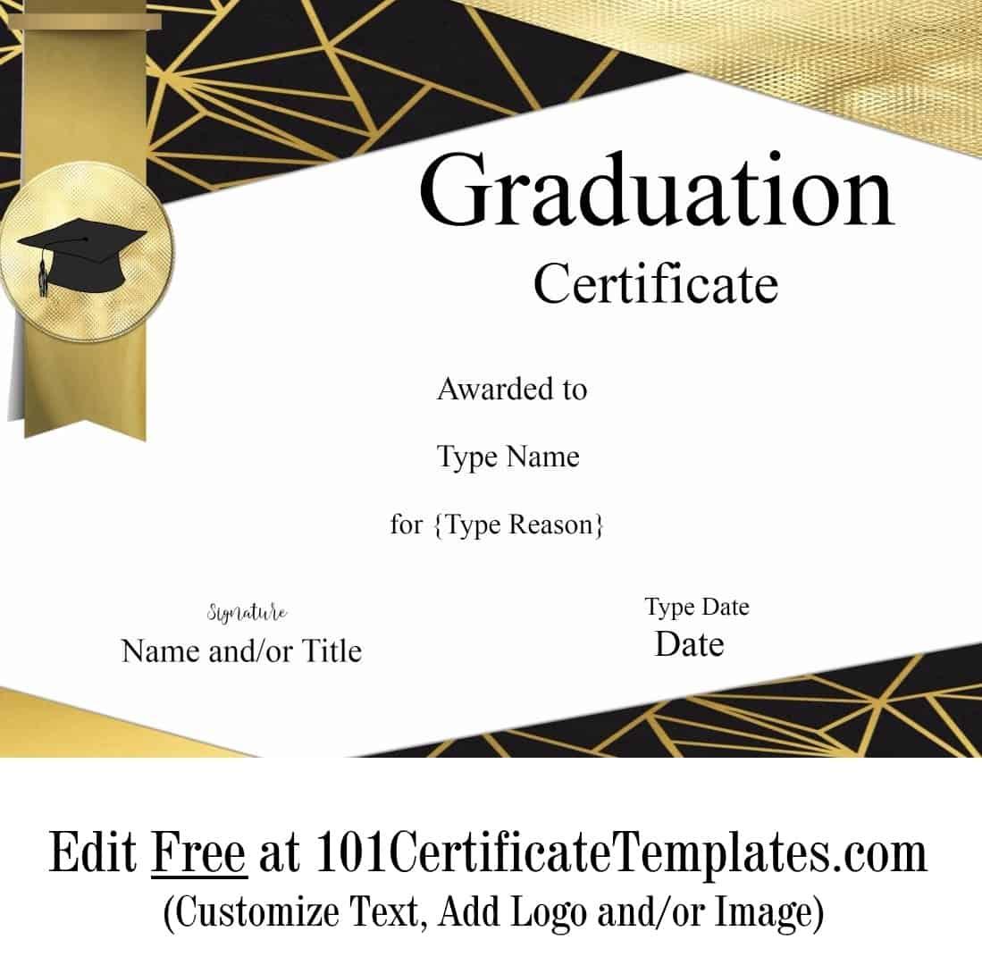 Free Graduation Certificate Template | Customize Online ...
