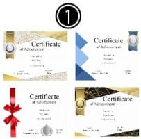 step1 - select certificate template
