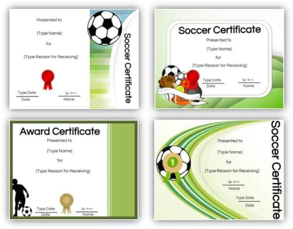 soccer award printables
