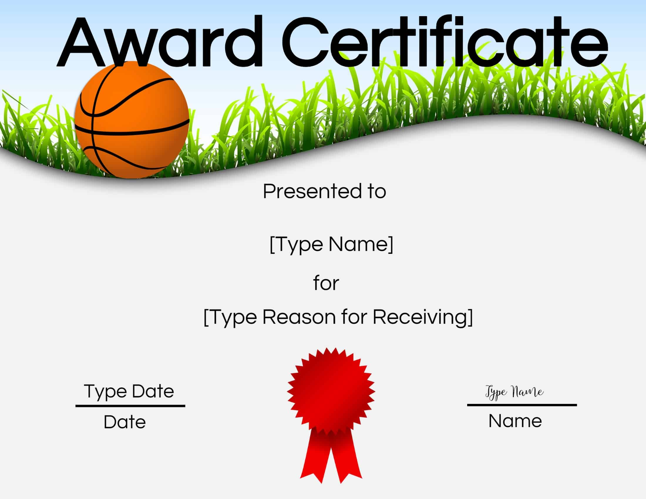 Free Printable Basketball Certificates | Customize Online