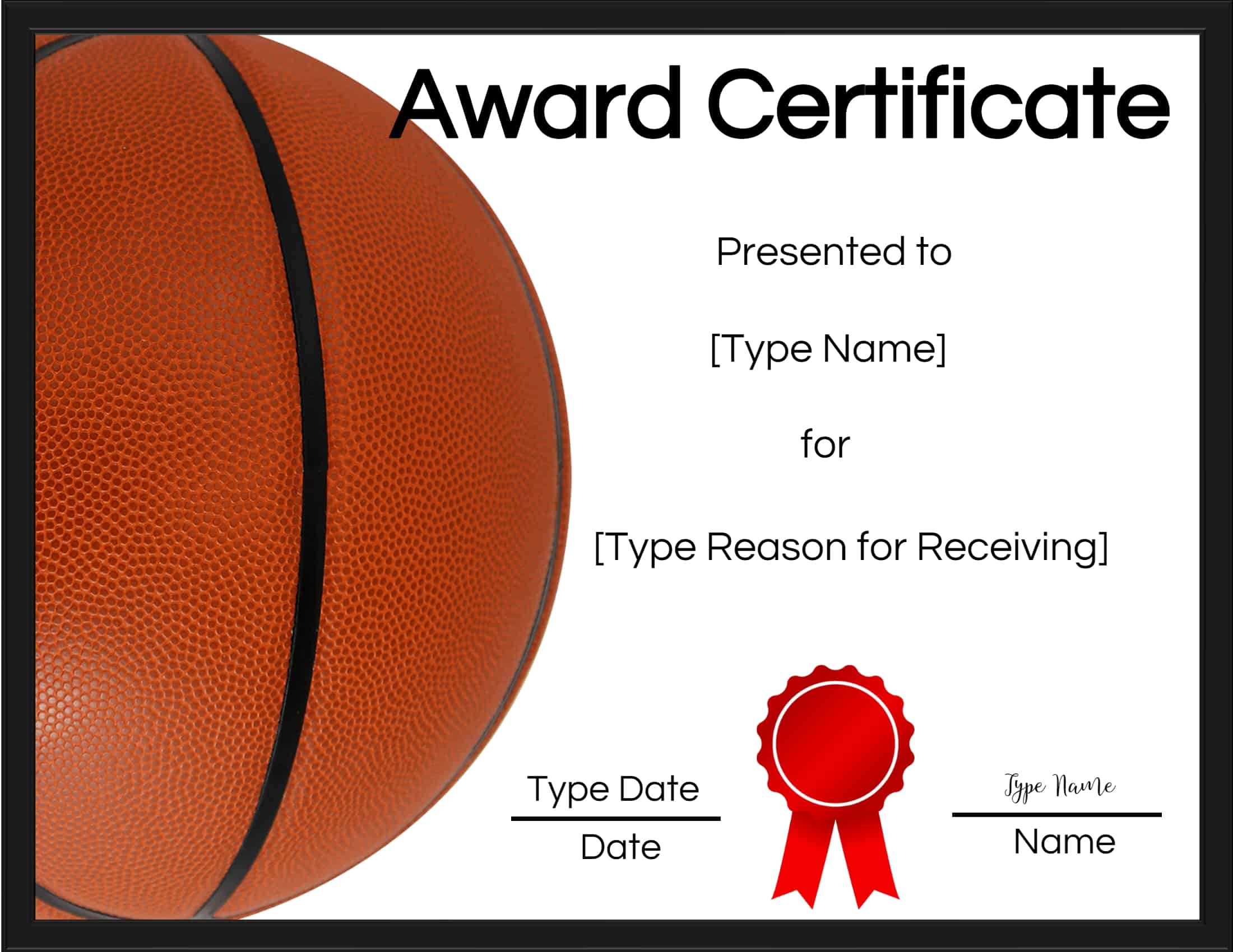 photo about Printable Basketball Certificates identified as Totally free Printable Basketball Certificates Customise On line