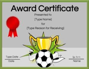 Soccer clipart award