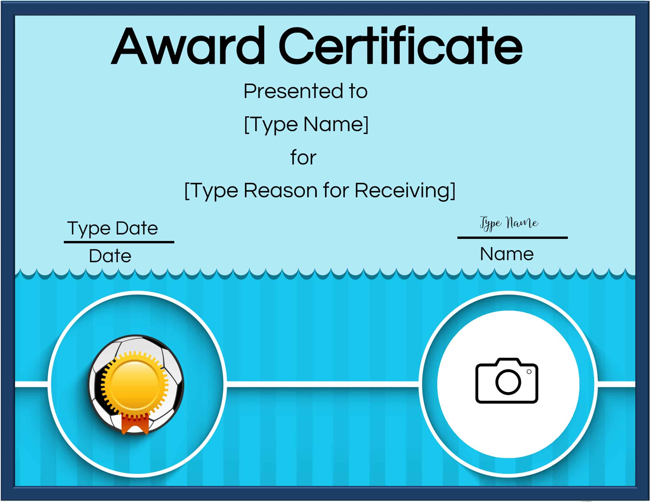 Free Soccer Certificate Maker | Edit Online and Print at Home