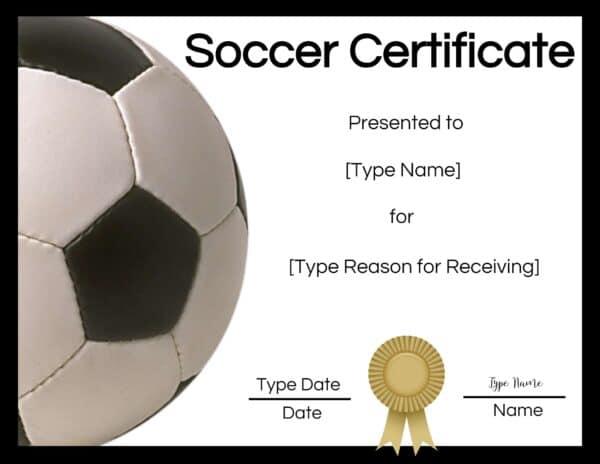 free soccer certificate maker