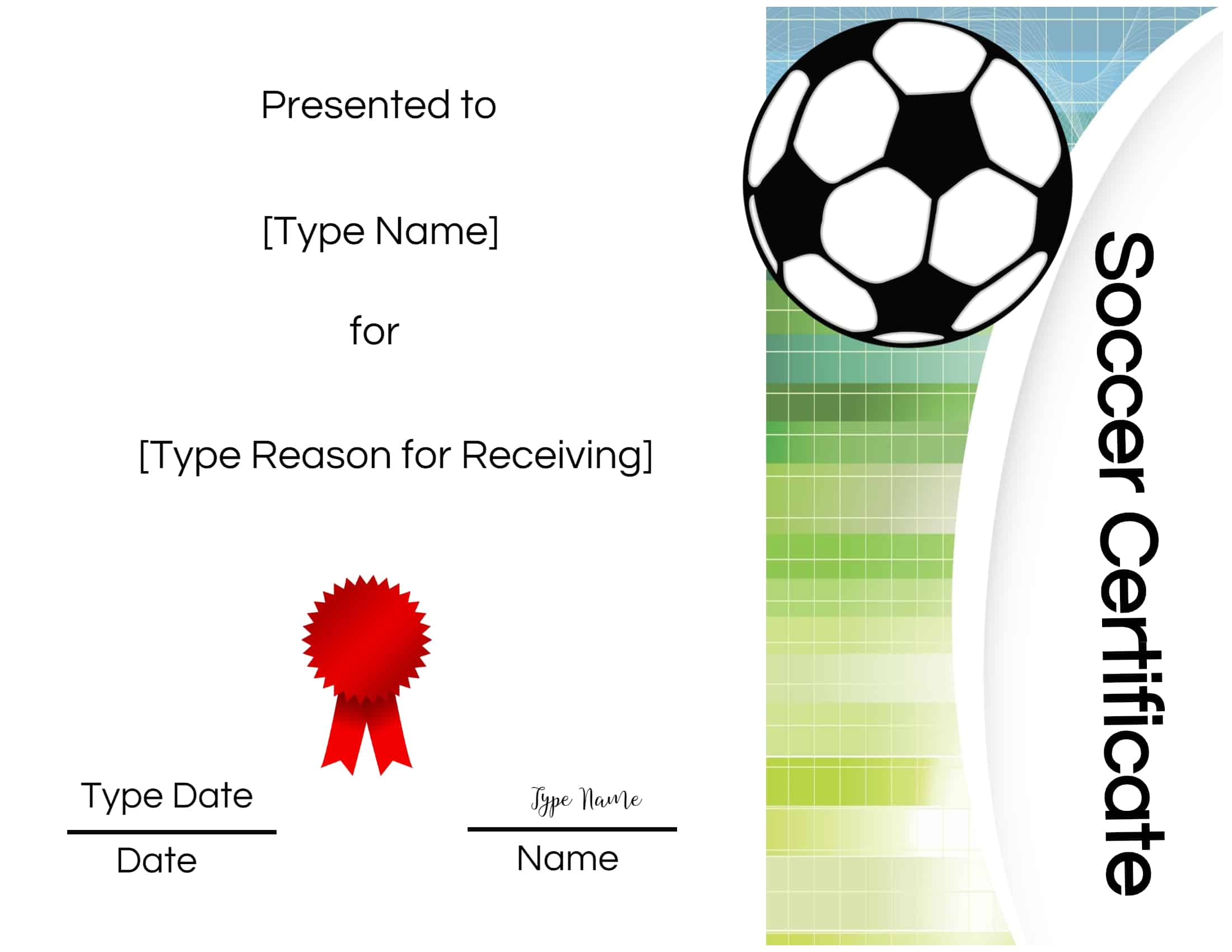 picture regarding Printable Soccer Certificate titled Totally free Football Certification Producer Edit On the net and Print at Property
