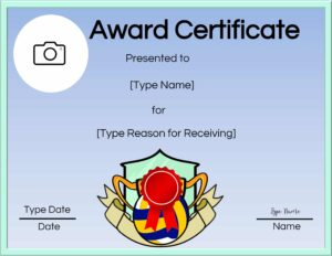 Printable volleyball certificate of achievement