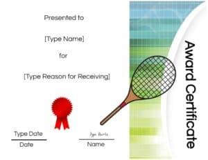 Tennis template
