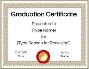 Graduation diploma templates