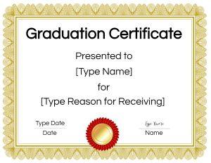 Graduation diploma template