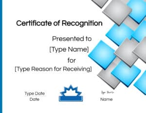 reward and recognition certificate template