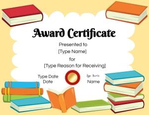 Reading Award