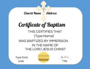 Christian certificate