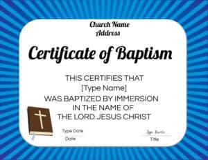 Catholic certificate