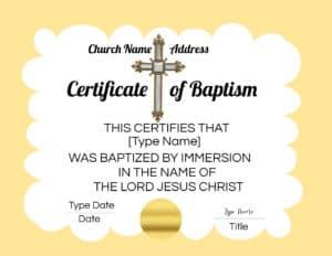 Christian baptism printable