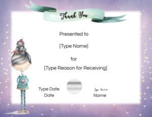 Pretty certificate template