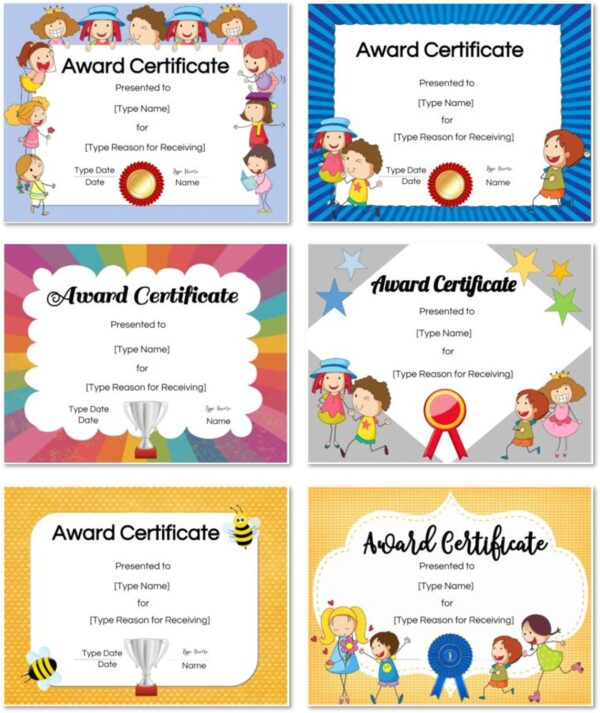 Certificates for kids