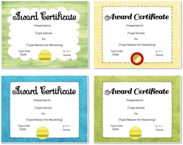 Colored certificate borders