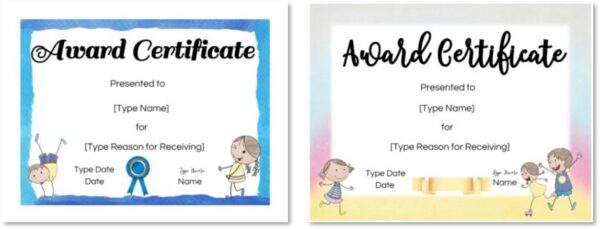 Cute templates for kids