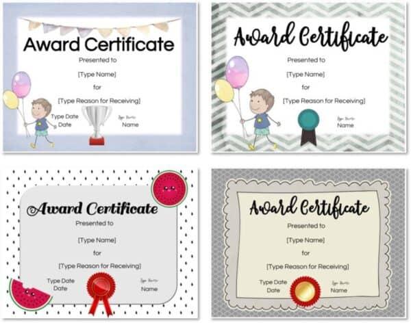 Kids certificate