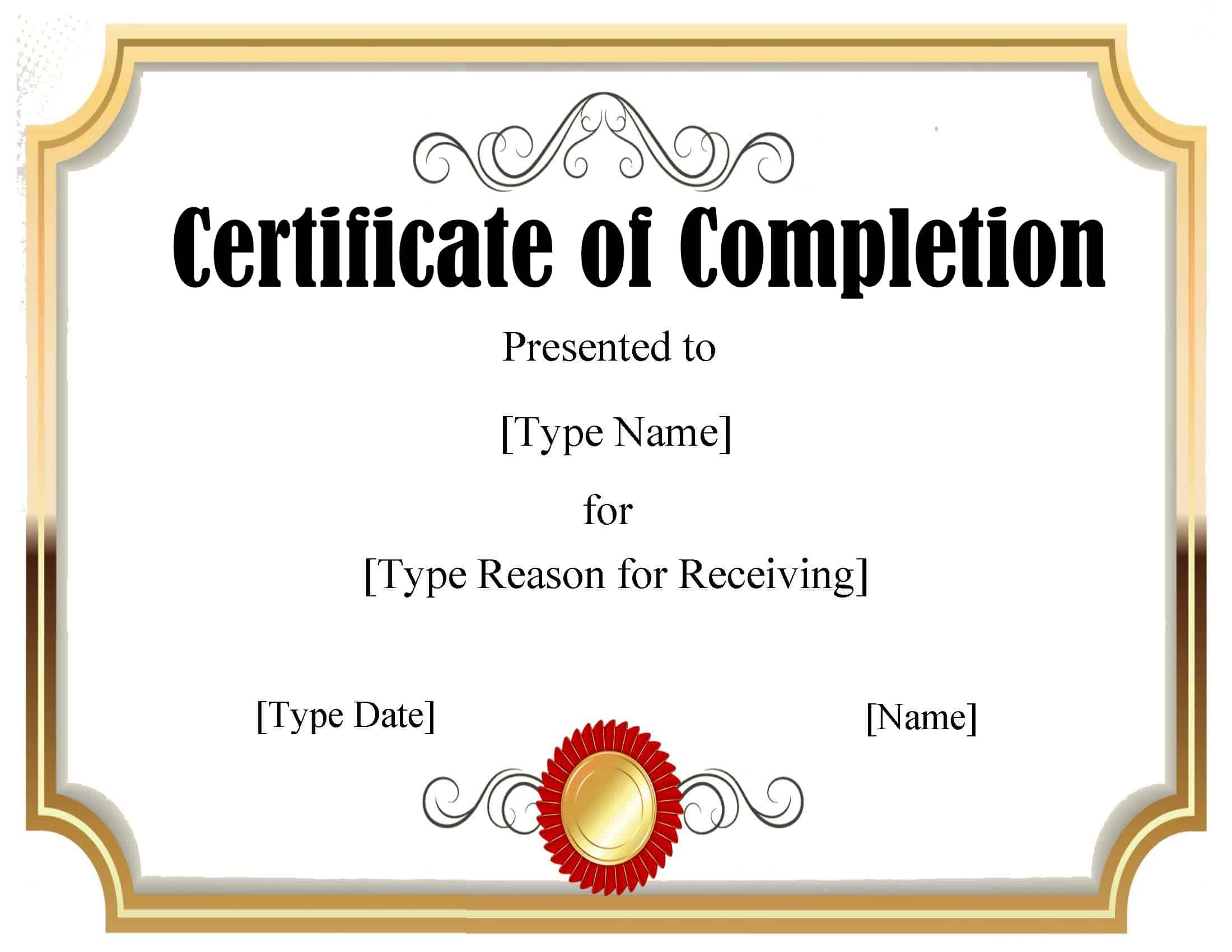 FREE Certificate Template Powerpoint  Instant Download Inside Graduation Certificate Template Word