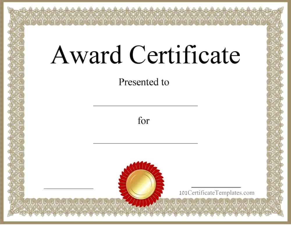 certificate blank templates pdf template award word watermark maker