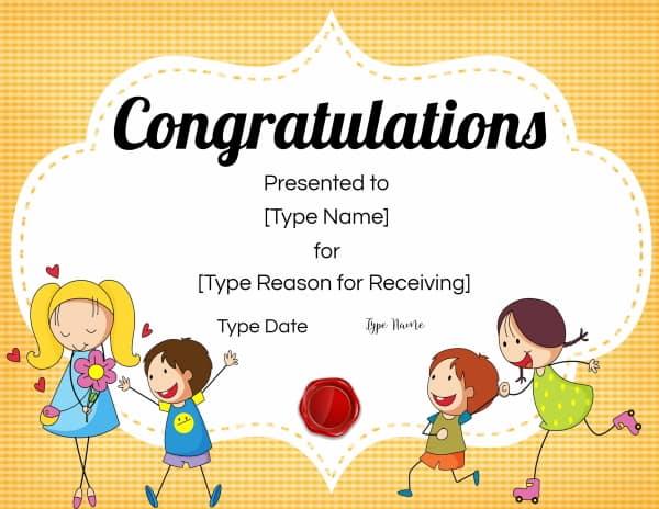 Award for kids