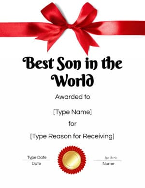 Best son in the world