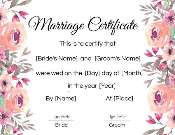 online fake marriage certificate
