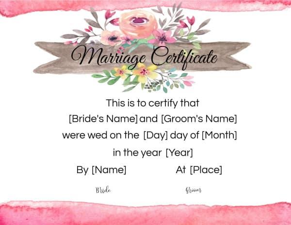 virtual marriage certificate