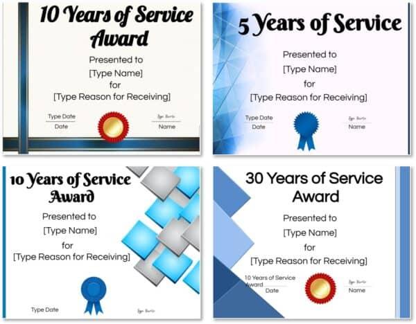 years of service award